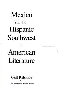 Mexico and the Hispanic Southwest in American Literature PDF