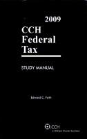 Federal Tax Study Manual 2009 PDF