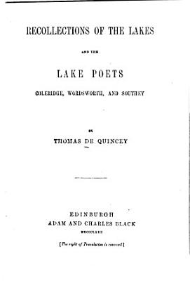 The Works of Thomas De Quincey   The English Opium Eater  PDF