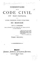 Commentaire sur le Code civil du Bas-Canada: Volume 2