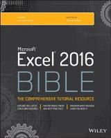 Excel 2016 Bible PDF