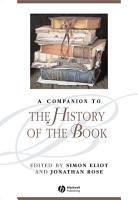 A Companion to the History of the Book PDF