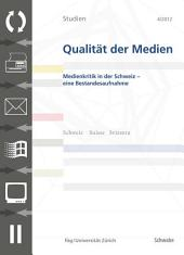 SQM 4/2012 Medienkritik in der Schweiz - eine Bestandsaufnahme