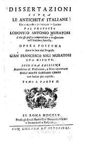 Dissertazioni sopra le antichità italiane: Volume 1,Parte 2