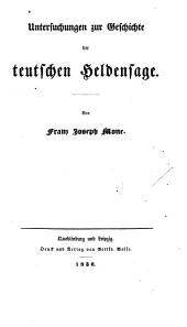 Untersuchungen zur geschichte der teutschen heldensage