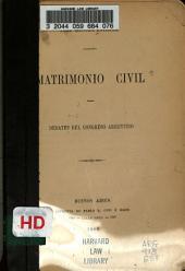 Matrimonio civil: debates del Congreso Argentino