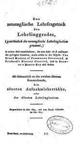 Die drei ältesten Kunsturkunden der Freimaurerbrüderschaft: Abth. (484 p.)