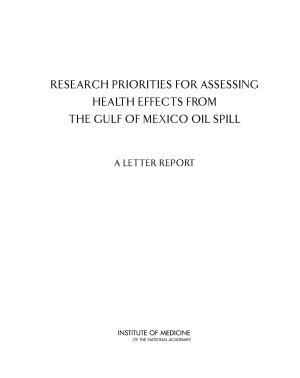 Research Priorities for Assessing Health Effects from the Gulf of Mexico Oil Spill PDF