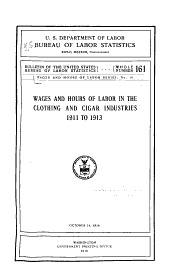 Wages and Hours of Labor Series: Issues 14-17