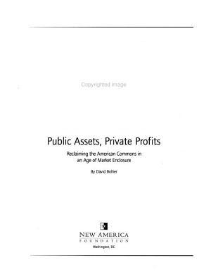 Public Assets  Private Profits PDF