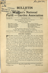 Woman's National Farm and Garden Association Bulletin: Volume 6, Issue 5