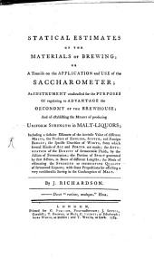 Statical Estimates of the Materials of Brewing