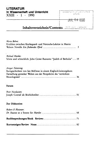 Literatur in Wissenschaft und Unterricht PDF