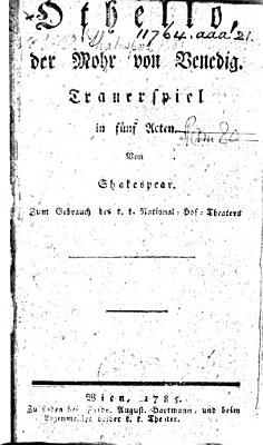 Othello  oder Der Mohr von Venedig PDF