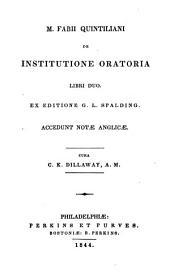 De institutione oratoria...