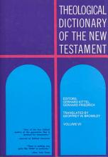 Theological Dictionary of the New Testament PDF
