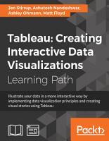 Tableau  Creating Interactive Data Visualizations PDF