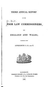 Annual Report of the Poor Law Commissioners for England and Wales: Volume 3
