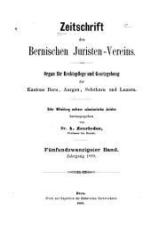 Zeitschrift des Bernischen Juristenvereins: Revue de la Société des juristes bernois, Band 25;Band 1889