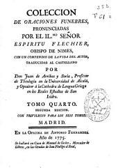 Coleccion de oraciones funebres pronunciadas por ... Espiritu Flechier ...