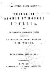 Theokritos. Biōn. Moschos. Theocriti Bionis et Moschi Idyllia. Ad optimorum librorum fidem recensuit notasque criticas adiecit