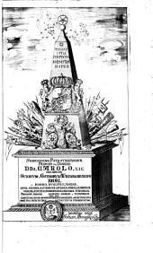Monumentorum sveo-gothicorum: liber primus : Uplandiæ partem primariam thiundiam : continens cum antiquitatibus ac inscriptionibus quæ Cippis & Rupibus, vel Tumbis incisæ passim reperiuntur : justa delineatione, brevique commentario illustratæ