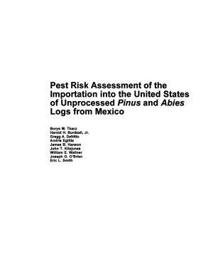 Pest Risk Assessment of the Importation Into the United States of Unprocessed Pinus and Abies Logs from Mexico