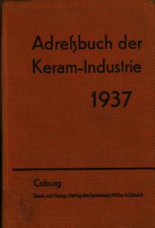 Adressbuch der Keram Industrie PDF