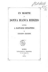 In morte di donna Bianca Rebizzo lettera a Raffaele Rubattino