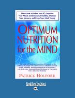 Optimum Nutrition for the Mind PDF