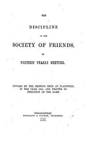 The Discipline of the Society of Friends of Western Yearly Meeting