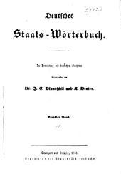 Deutsches staats-wörterbuch: Band 6
