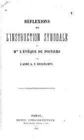 Réflexions sur l'instruction synodale de Mgr. l'évêque de Poitiers
