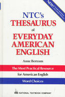 NTC s Thesaurus of Everyday American English PDF