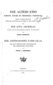 Acta Archelai und das Diatessaron Tatians