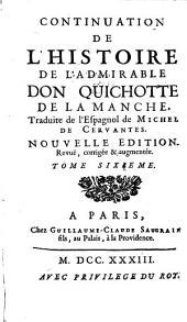 Histoire de l'admirable Don Quichotte de la Manche ...