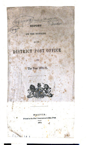 Report on the Working of the District Post Office