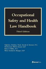 Occupational Safety and Health Law Handbook PDF