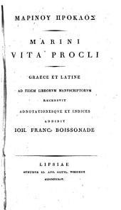 Marini Vita Procli: Graece et Latine