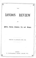 The London Review of Politics  Society  Literature  Art    Science PDF