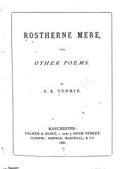 Rostherne Mere and Other Poems