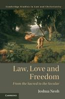 Law  Love and Freedom PDF