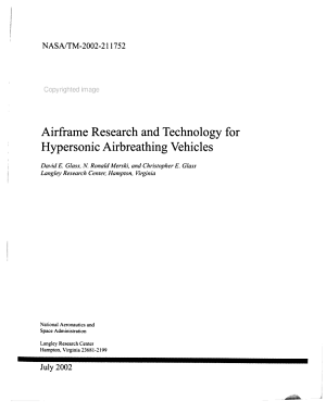 Airframe Research and Technology for Hypersonic Airbreathing Vehicles