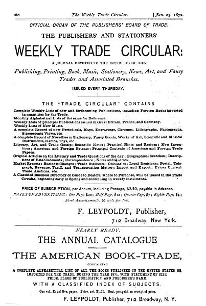 Download The Publishers  and Stationers  Weekly Trade Circular Book