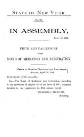 Annual Report of the Board of Mediation and Arbitration of the State of New York: Volume 5