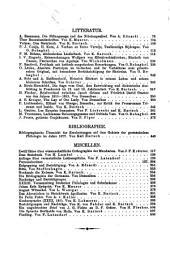 Germania Vierteljahrsschrift Fur Deutscbhe Alterthumskunde