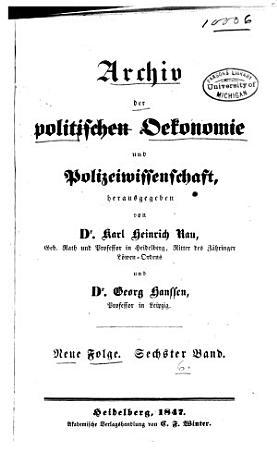 Archiv der politischen Oekonomie und Polizeiwissenschaft PDF