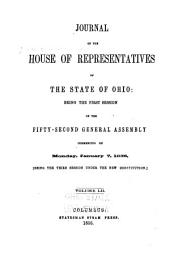 Journal of the House of Representatives of the State of Ohio: Volume 52