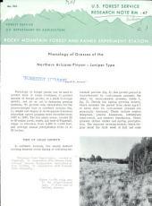 Phenology of grasses of the northern Arizona pinyon-juniper type