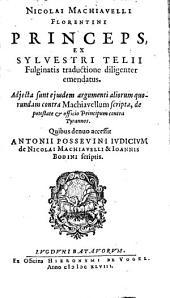 Princeps: adjecta sunt aliorum contra Machiavellum suipta et A Possesiri judicium de Machiavelli et Bodini scriptis